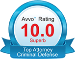 Avvo Rating Top Criminal Defense